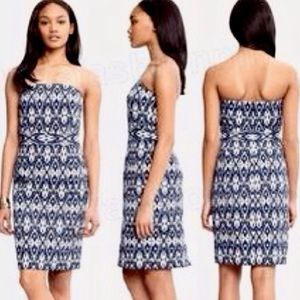 NWOT Blue & White Ikat Banana Republic Dress